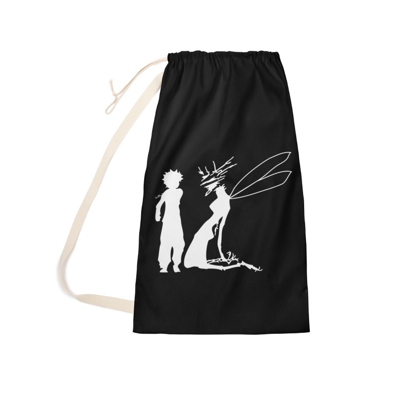 Killua white Accessories Laundry Bag Bag by Synner Design