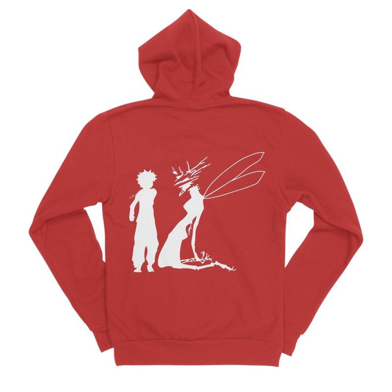Killua white Men's Zip-Up Hoody by Synner Design
