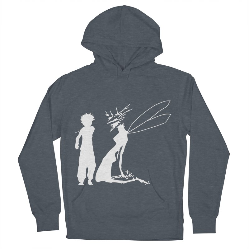 Killua white Women's French Terry Pullover Hoody by Synner Design