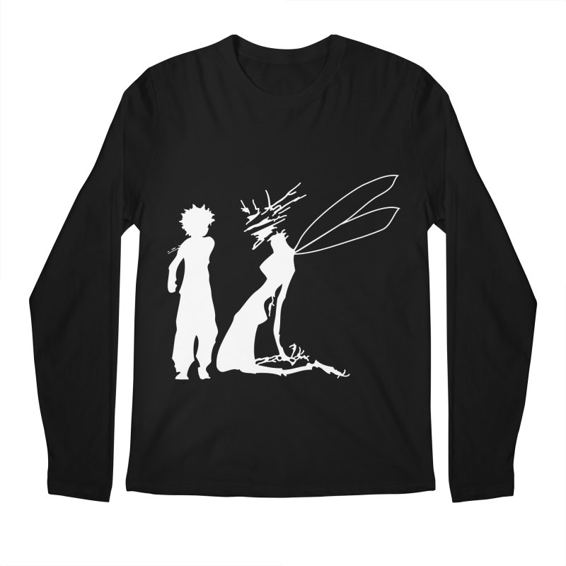 Killua white Men's Regular Longsleeve T-Shirt by Synner Design