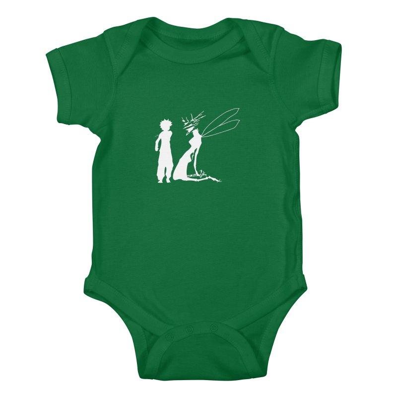 Killua white Kids Baby Bodysuit by Synner Design
