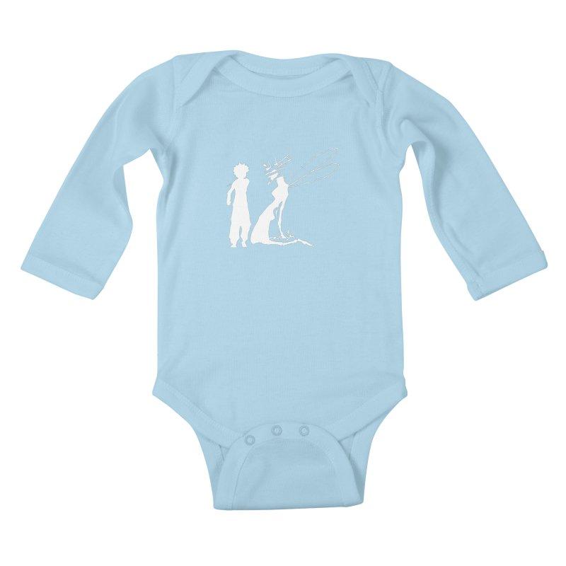 Killua white Kids Baby Longsleeve Bodysuit by Synner Design