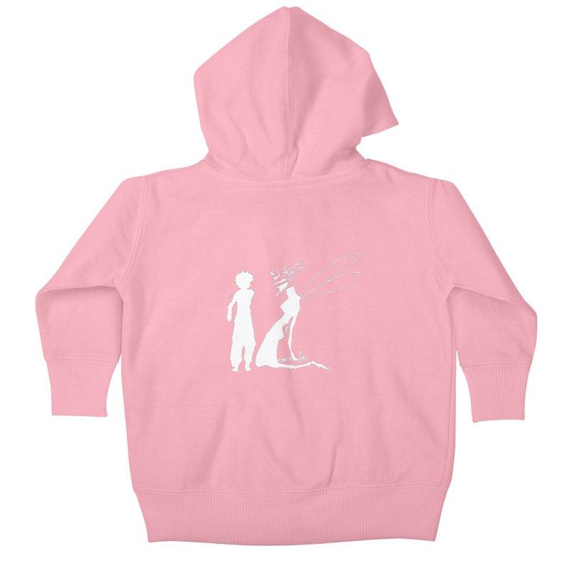 Killua white Kids Baby Zip-Up Hoody by Synner Design