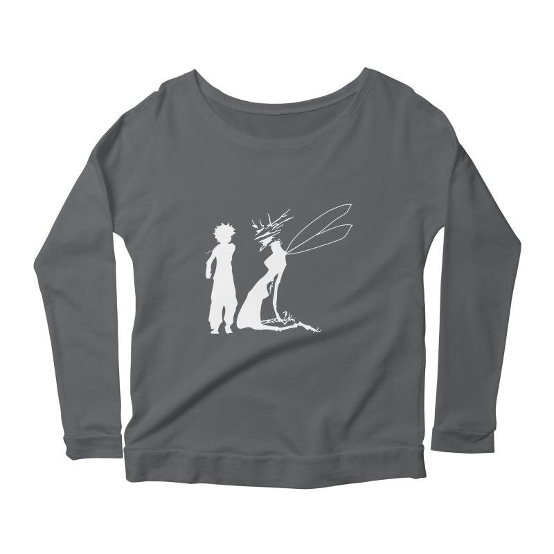 Killua white Women's Scoop Neck Longsleeve T-Shirt by Synner Design