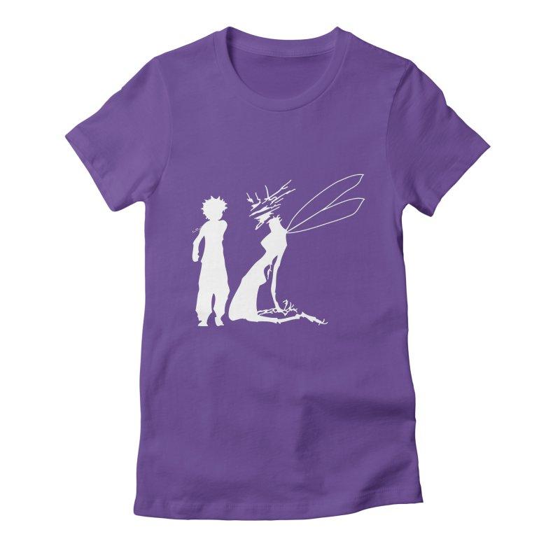 Killua white Women's Fitted T-Shirt by Synner Design