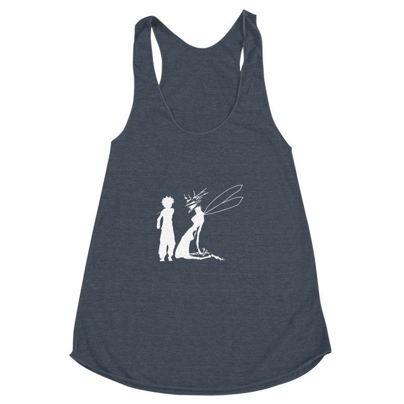 Killua white Women's Racerback Triblend Tank by Synner Design