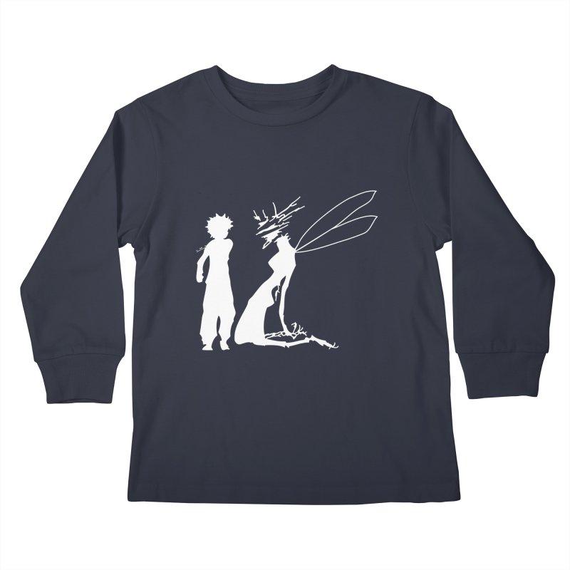 Killua white Kids Longsleeve T-Shirt by Synner Design