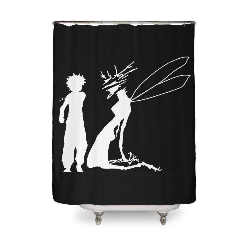 Killua white Home Shower Curtain by Synner Design