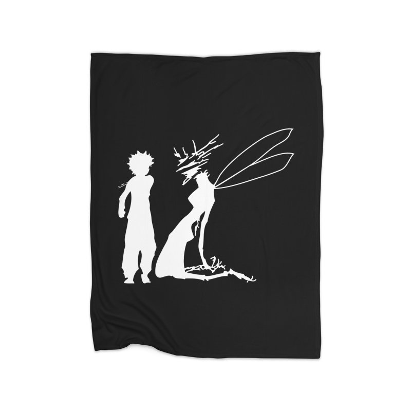 Killua white Home Blanket by Synner Design