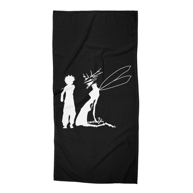Killua white Accessories Beach Towel by Synner Design
