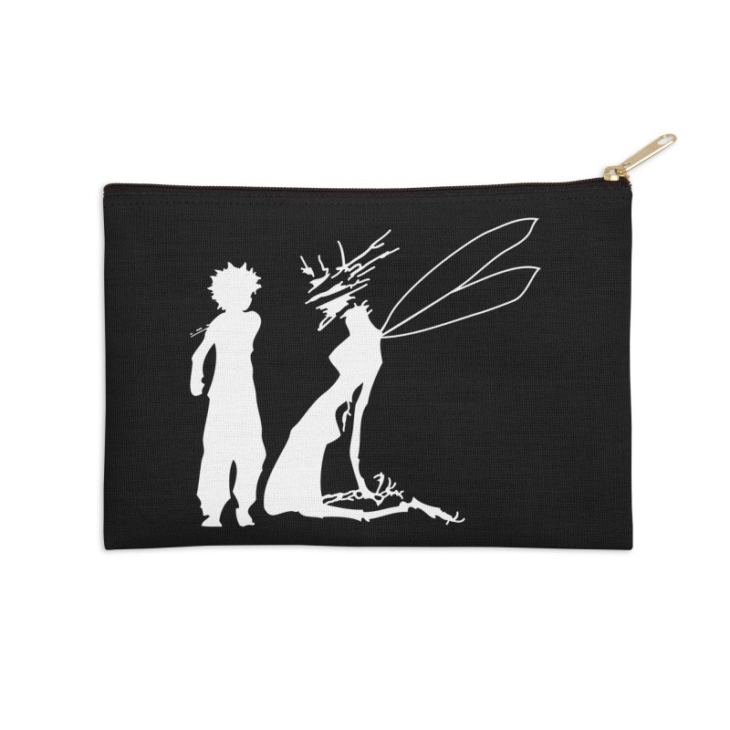 Killua white Accessories Zip Pouch by Synner Design