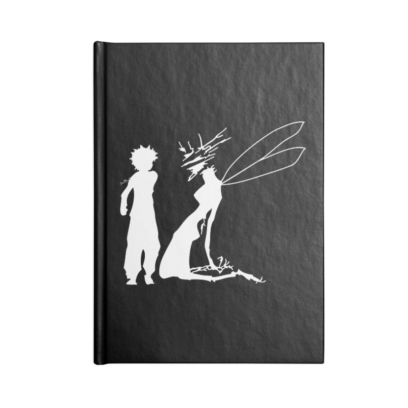 Killua white Accessories Blank Journal Notebook by Synner Design