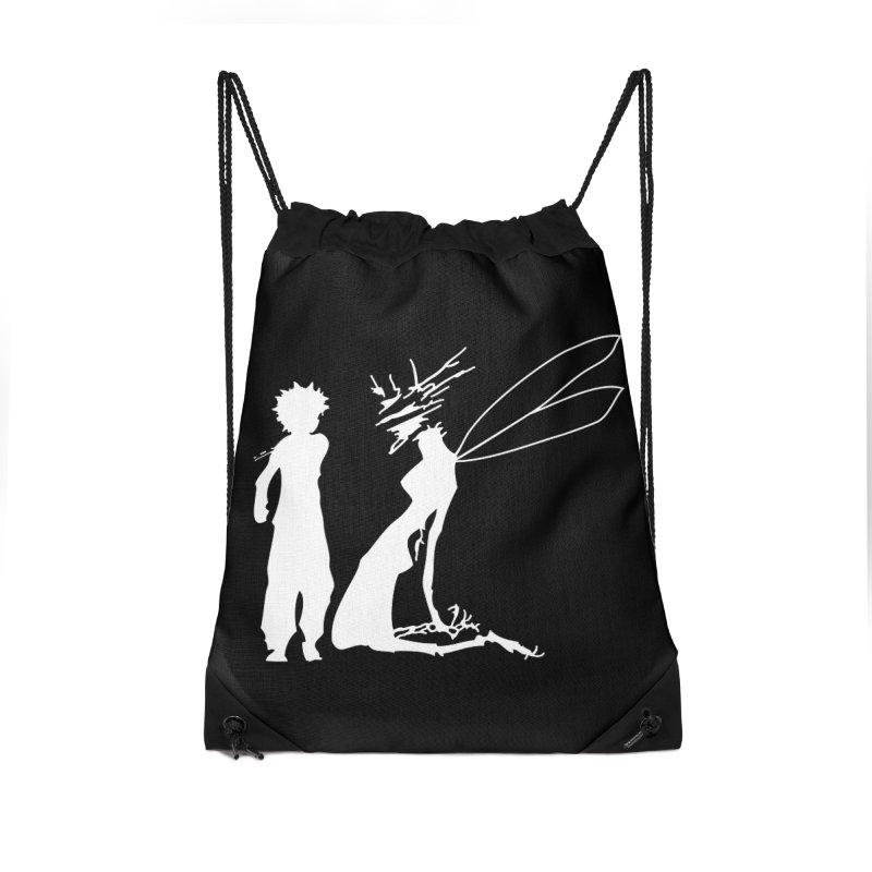 Killua white Accessories Drawstring Bag Bag by Synner Design