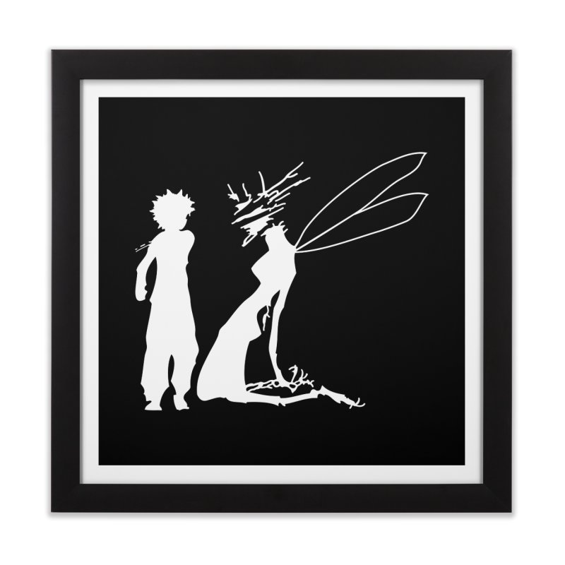 Killua white Home Framed Fine Art Print by Synner Design