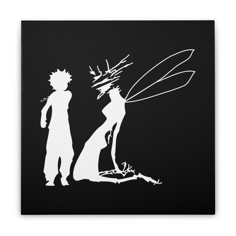 Killua white Home Stretched Canvas by Synner Design