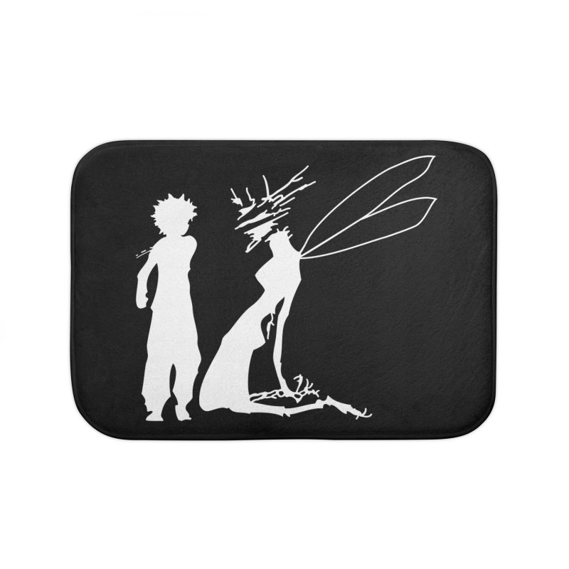 Killua white Home Bath Mat by Synner Design