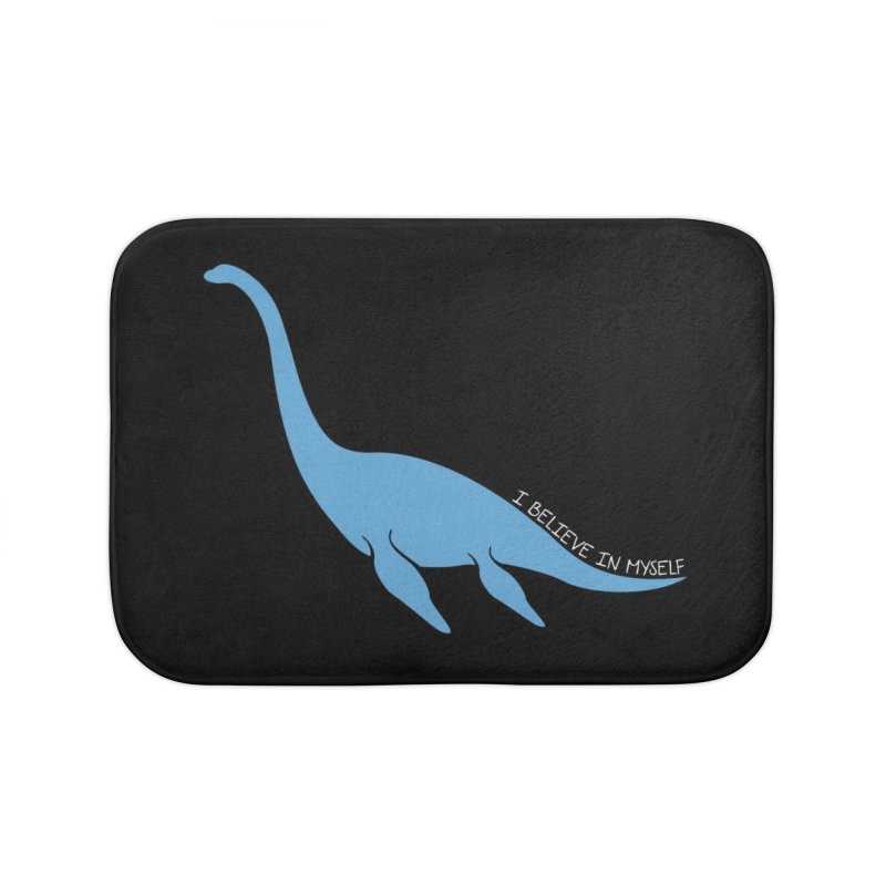 Nessie believe white Home Bath Mat by Synner Design