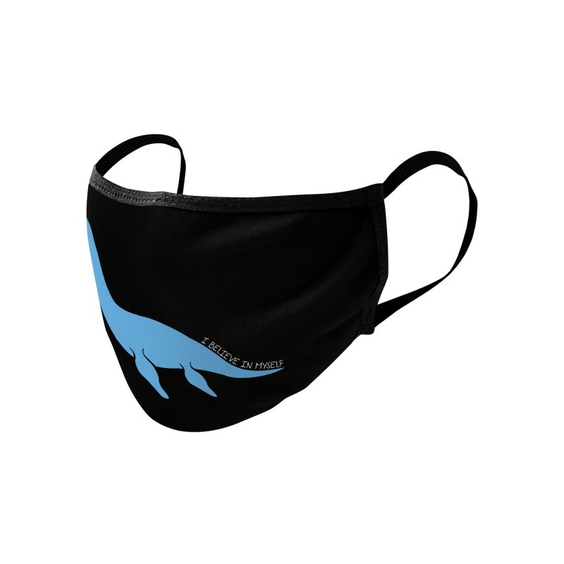 Nessie believe white Accessories Face Mask by Synner Design