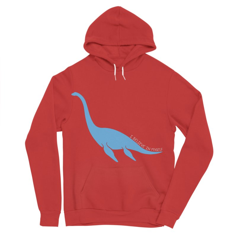 Nessie believe white Men's Pullover Hoody by Synner Design