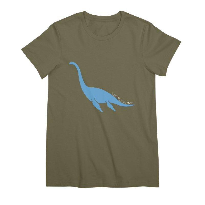 Nessie believe white Women's Premium T-Shirt by Synner Design