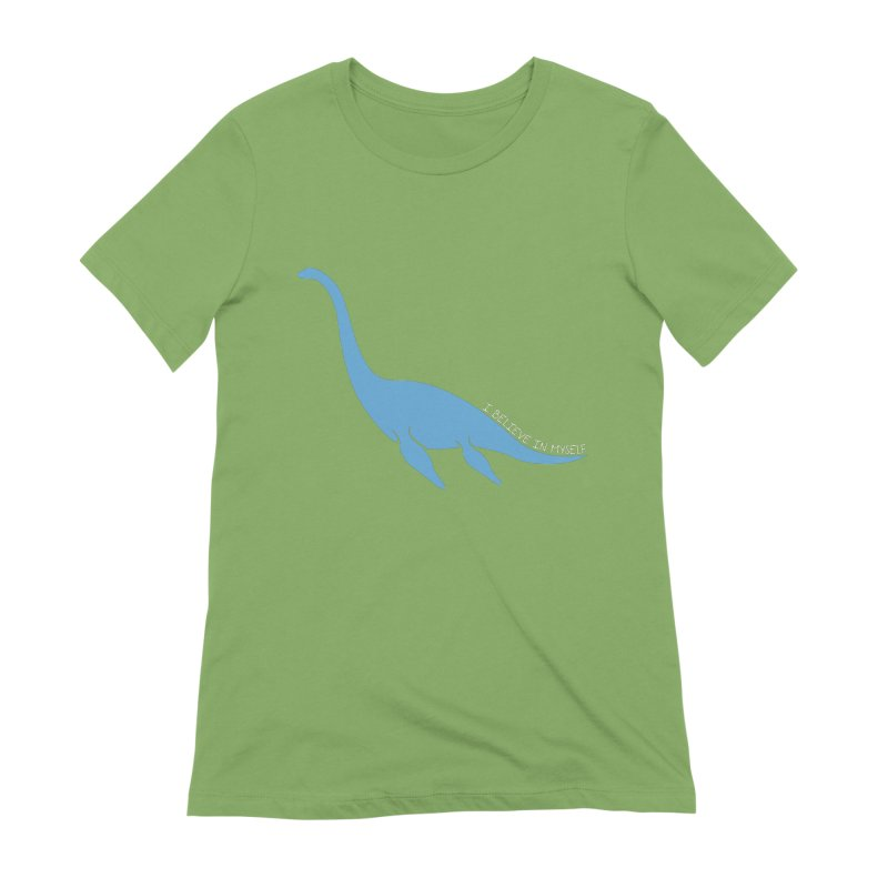 Nessie believe white Women's Extra Soft T-Shirt by Synner Design