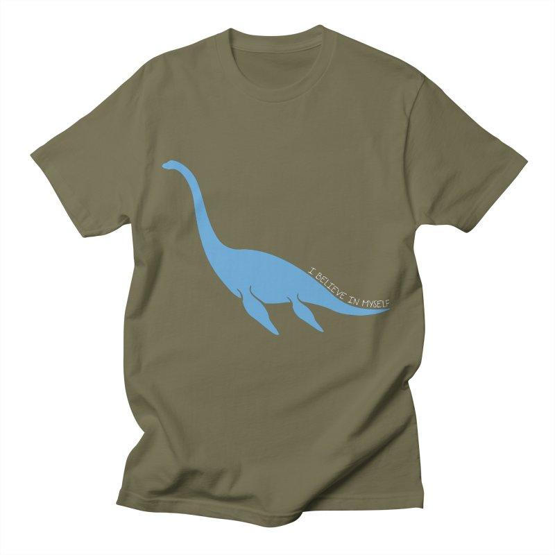 Nessie believe white Men's T-Shirt by Synner Design