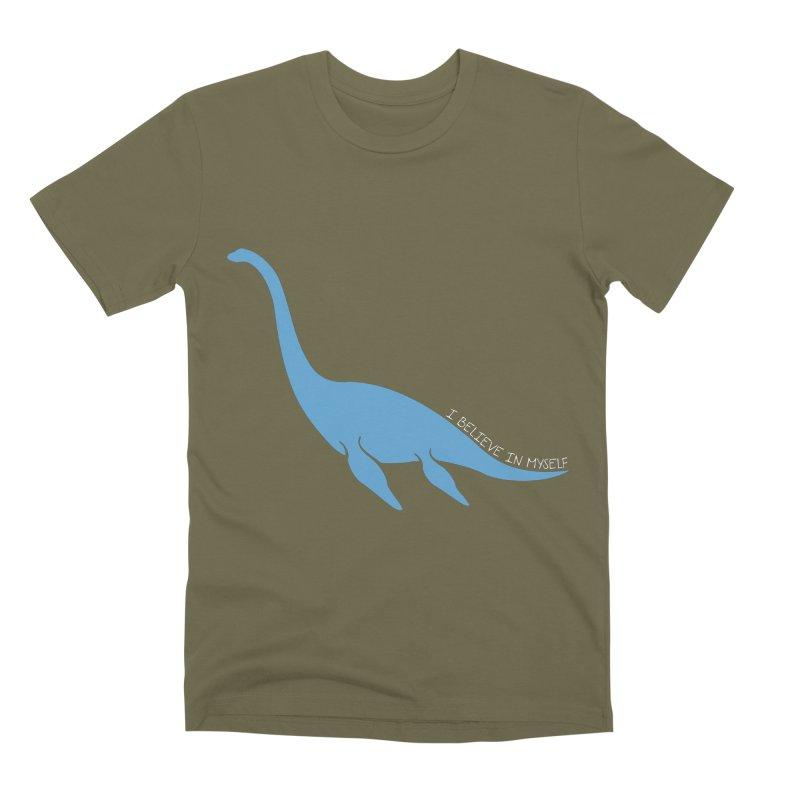Nessie believe white Men's Premium T-Shirt by Synner Design