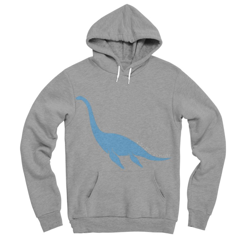 Nessie believe white Men's Sponge Fleece Pullover Hoody by Synner Design