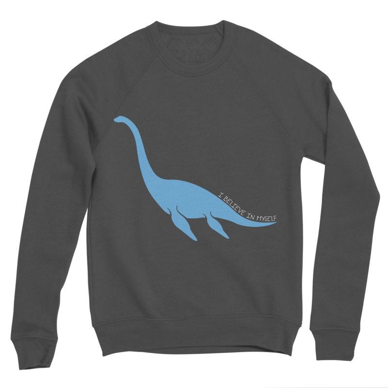 Nessie believe white Men's Sponge Fleece Sweatshirt by Synner Design