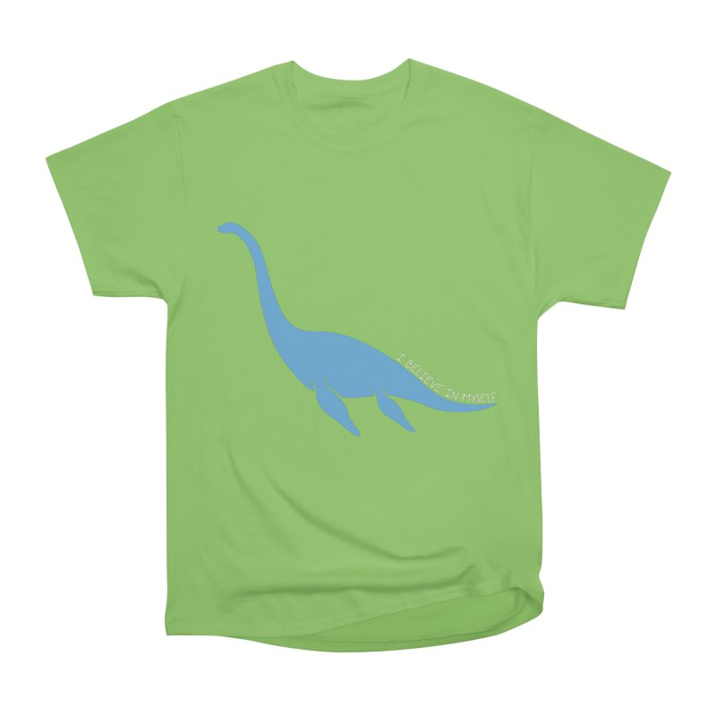 Nessie believe white Women's Heavyweight Unisex T-Shirt by Synner Design