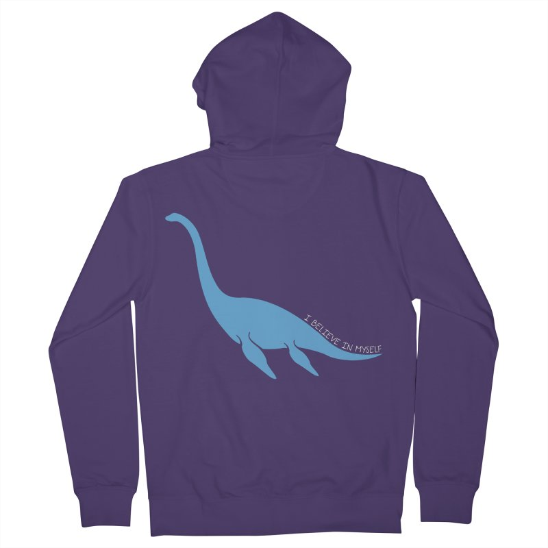 Nessie believe white Women's Zip-Up Hoody by Synner Design