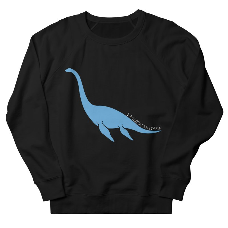 Nessie believe white Women's French Terry Sweatshirt by Synner Design