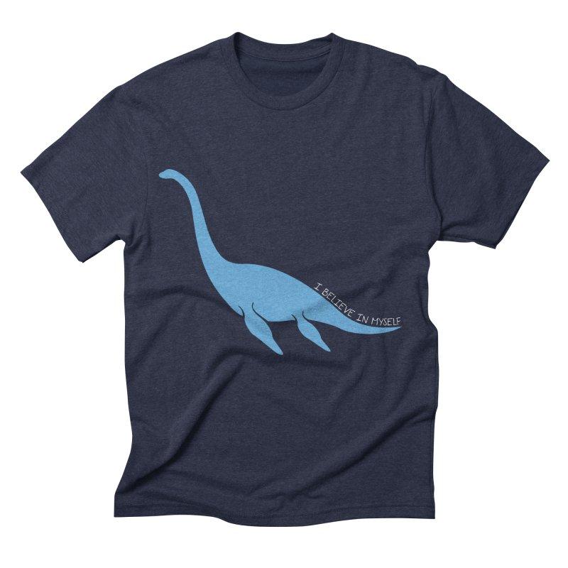 Nessie believe white Men's Triblend T-Shirt by Synner Design