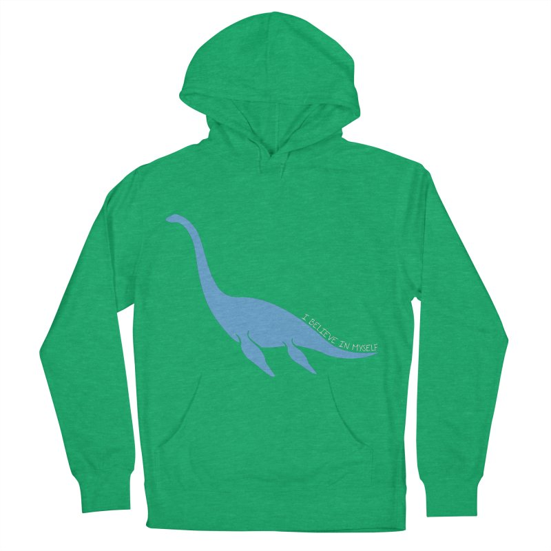 Nessie believe white Women's French Terry Pullover Hoody by Synner Design