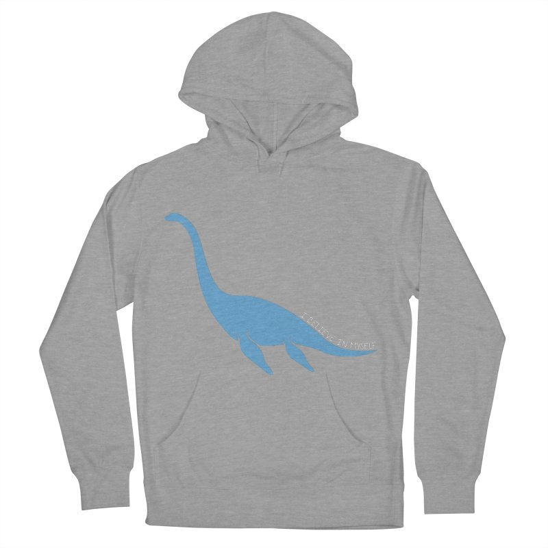 Nessie believe white Men's French Terry Pullover Hoody by Synner Design