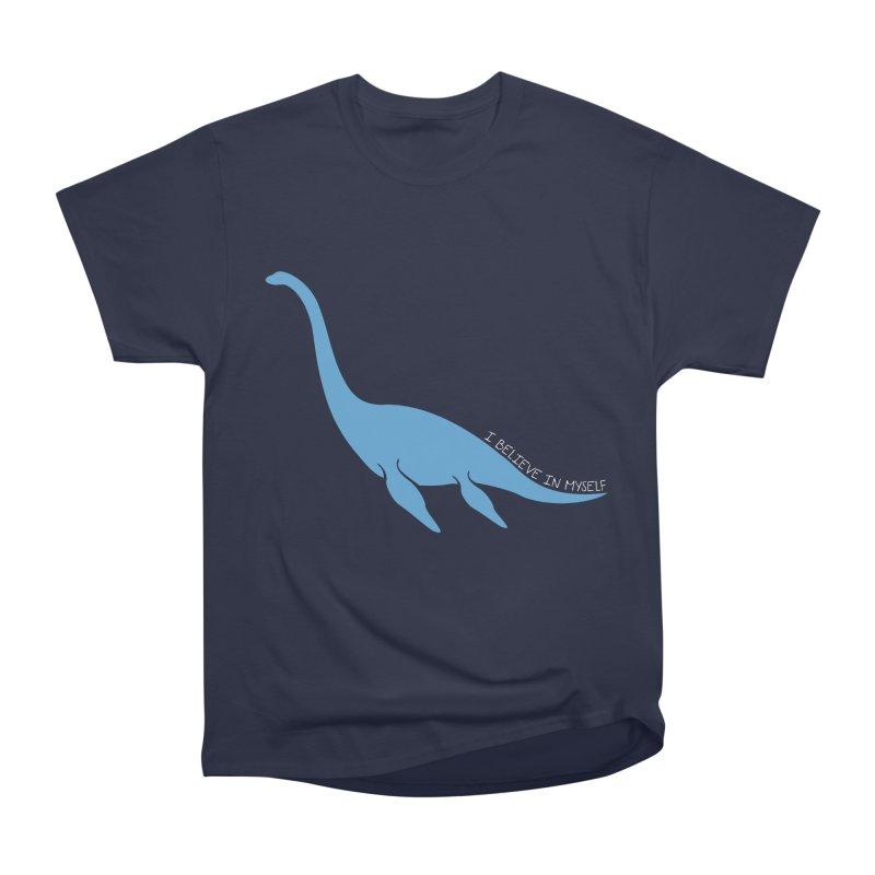 Nessie believe white Women's Heavyweight Unisex T-Shirt by Synner Design