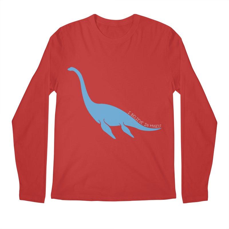 Nessie believe white Men's Regular Longsleeve T-Shirt by Synner Design
