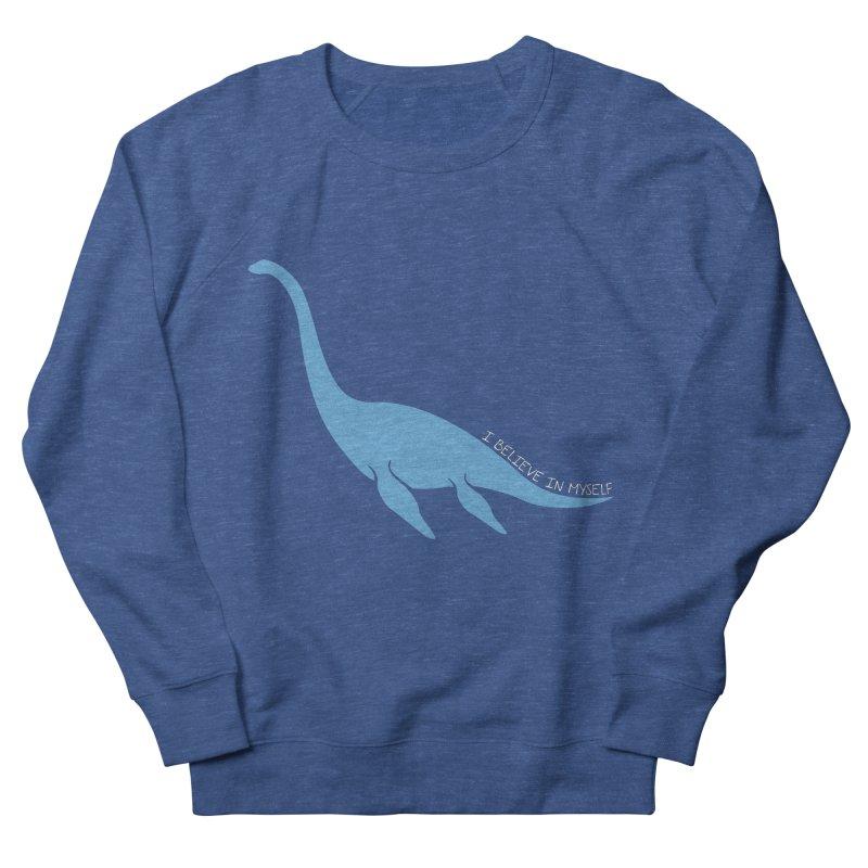 Nessie believe white Women's French Terry Sweatshirt by Synner Design