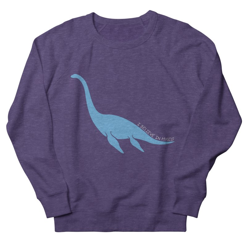 Nessie believe white Men's French Terry Sweatshirt by Synner Design