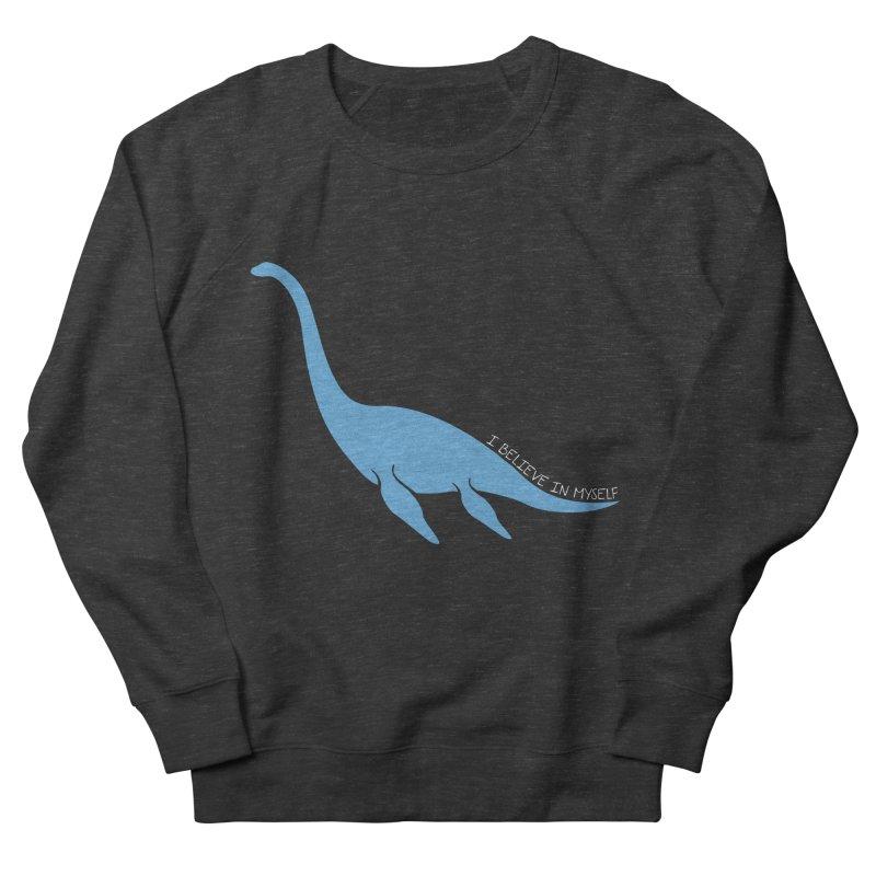 Nessie believe white Men's French Terry Sweatshirt by Synner Design