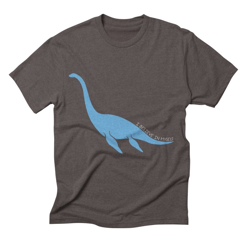 Nessie believe white Men's Triblend T-Shirt by Synner Design