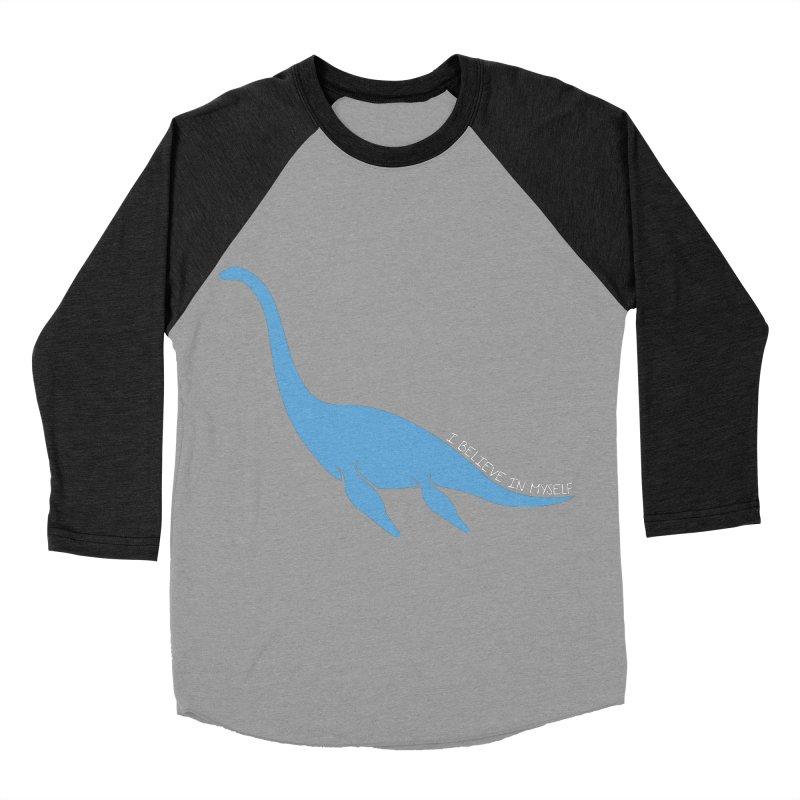 Nessie believe white Women's Baseball Triblend Longsleeve T-Shirt by Synner Design