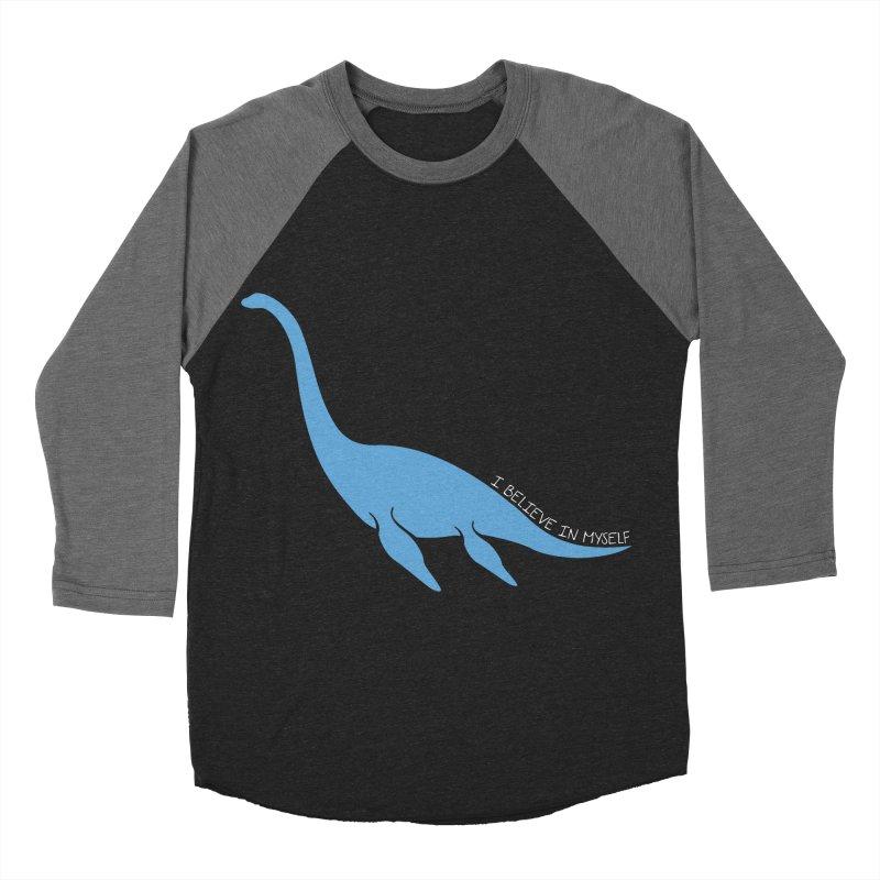 Nessie believe white Men's Baseball Triblend Longsleeve T-Shirt by Synner Design