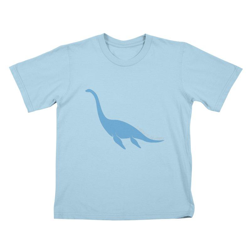 Nessie believe white Kids T-Shirt by Synner Design