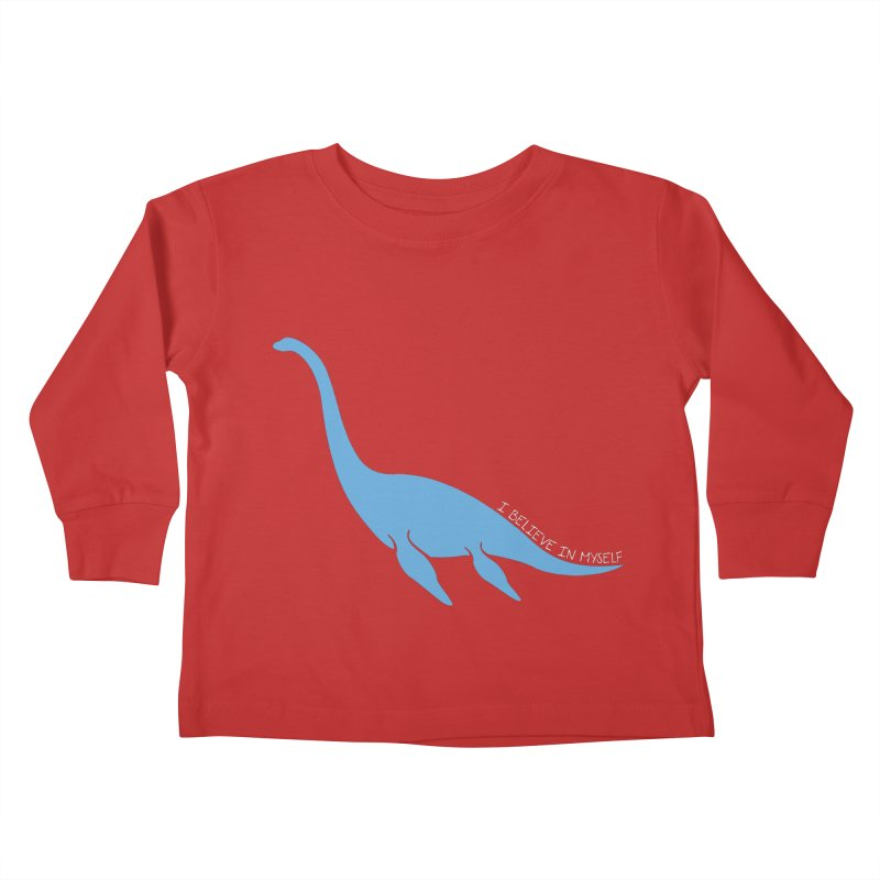 Nessie believe white Kids Toddler Longsleeve T-Shirt by Synner Design