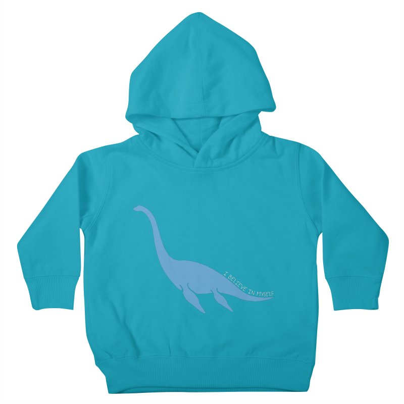 Nessie believe white Kids Toddler Pullover Hoody by Synner Design