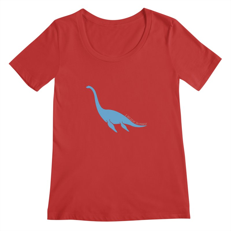Nessie believe white Women's Scoop Neck by Synner Design