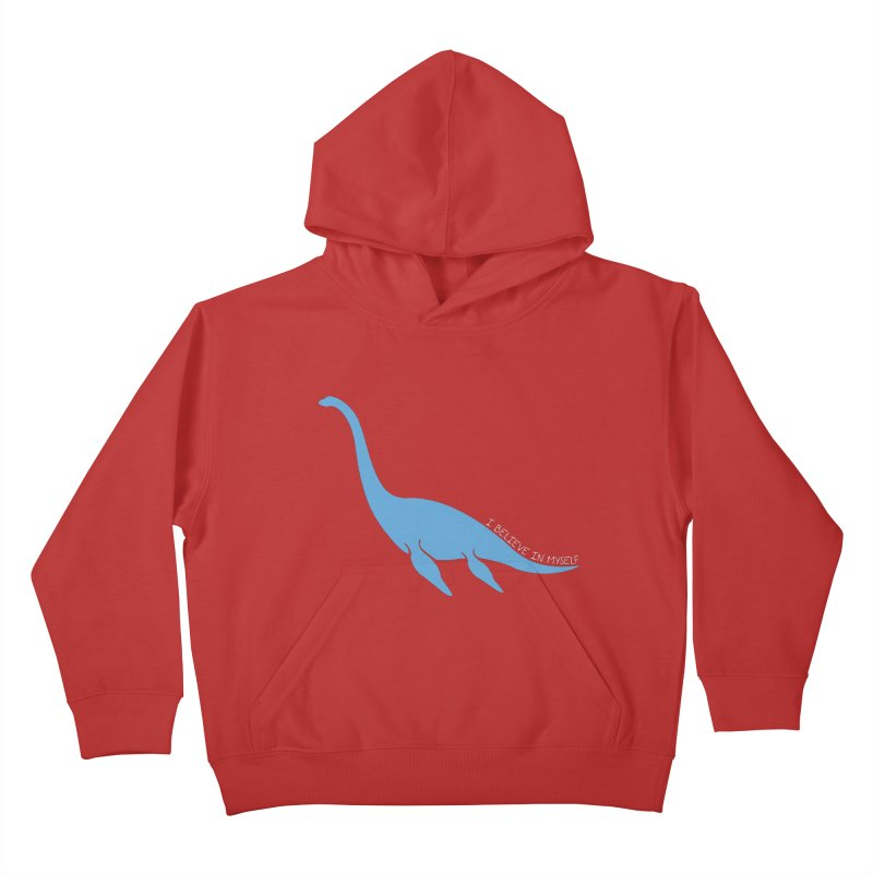 Nessie believe white Kids Pullover Hoody by Synner Design