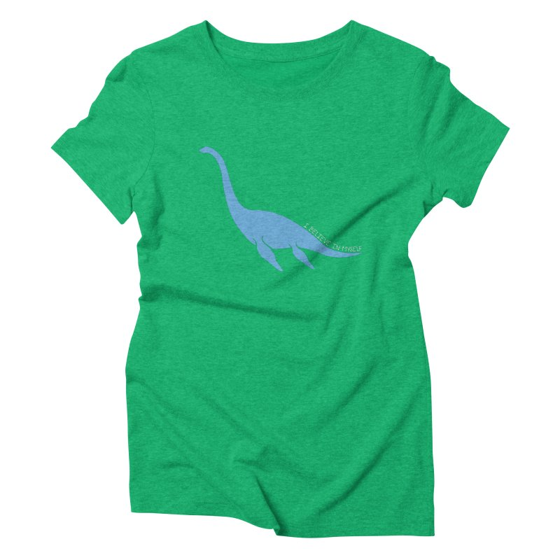 Nessie believe white Women's Triblend T-Shirt by Synner Design