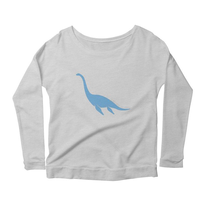 Nessie believe white Women's Scoop Neck Longsleeve T-Shirt by Synner Design